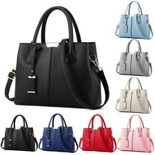 Leather Woman Tote Handbag Shoulder Cross Body Messenger Bag Lady Satchel Purse