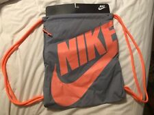Nike Womens Gray Drawstring Workout Bag