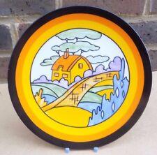 Wedgwood IL MONDO BIZZARRO di Clarice CLIFF Plate-Arancione TETTO Cottage