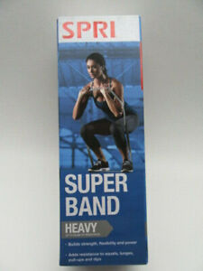 """SPRI Super Band Heavy Resistance Workout Band (50lbs Of Resistance) 40"""" NEW"""