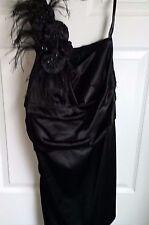 One-shoulder Black Evening/Cocktail Dress Size 16