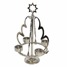Hanging Tree Candle Holder - Silver Nickel Plated Christmas Houseware Gifts