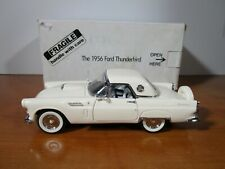 DANBURY MINT 1/24 OFF WHITE OR TAN 1956 FORD THUNDERBIRD USED NICE *ISSUE* READ