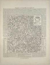 Trier-Rheinland-Pfalz-Karte-Map-Lithographie 1845