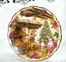 """1990 ROYAL ALBERT """"Christmas Joy"""" Decorative Plate Old Country Roses FRED ERRILL"""