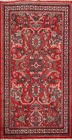 Vintage Geometric Mahal Traditional Area Rug Wool Hand-knotted Foyer Carpet 4x7