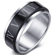 Roman Numeral Size 10 Stainless Steel Ring USA SELLER Number 1-12 Zodiac Astrolo