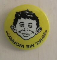 Vintage 1996 Mad Magazine Alfred E. Neuman What Me Worry Pin Button