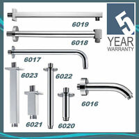 Pura Chrome Fixed Shower Head Arms – Wall & Ceiling Mounted – Short & Long