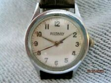 Vintage 50's Swiss Rotary Chrome Plated Gents Mechanical Watch.