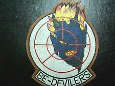 USN US NAVY WWII VF-74 BEDEVILERS  LEATHER FLIGHT JACKET SQUADRON PATCH PAINT