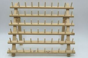June Tailor 60 Sewing Thread Spool Rack Holder Organizer Wooden - Preowned/Used