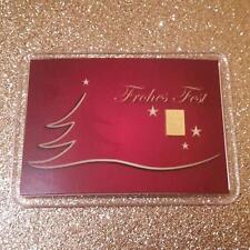 1 Gramm Gold 999,9 + Zertifikat ► 1g Goldbarren ► Weihnachten Frohes Fest