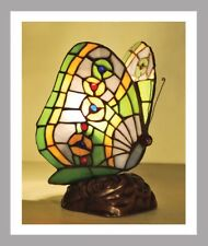 Butterfly Stained Glass Tiffany Style Table Lamp Bedside Table Lamp Brand New 3