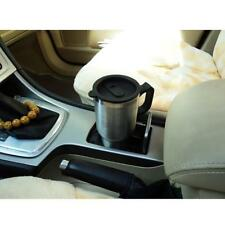 Heated Car Travel Mug 12v Charger Stainless Steel Coffee Keep Warm Flask -