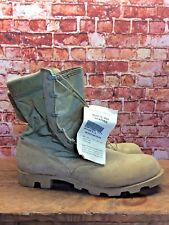 NEW WITH TAGS Men's Military Hot Weather Combat Boots Leather 13 R Made In