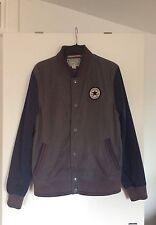 Mens/Teenage Boys Grey/Blue Converse All Star Chuck Taylor Baseball Jacket-Small