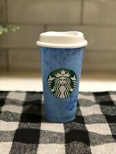 """NEW STARBUCKS REUSUABLE HOT CUP """"COTTON CANDY"""" BLUE COLOR SUMMER 2019"""