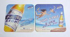 HONG KONG Beer Mat Coaster SAN MIGUEL LIGHT Light & Free 2013 Chinese