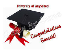 Graduation edible cake image cake topper decoration party decoration