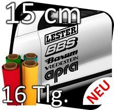 16 x Sponsorenaufkleber, Decals, Aufkleber, Rally, 15cm