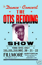 King of Stax: Otis Redding at Fillmore Auditorium S.F. Concert Poster 1967