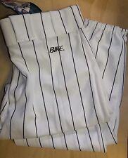 Lot Of 4 Bike Baseball Pants, Youth Extra Large White, Blue Stripes, 4214, Wh-Ny