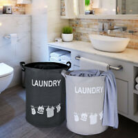 Dirty Clothes Storage Bag Basket Laundry Diamante Washing Bin Foldable Hamper UK