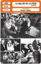FICHE CINEMA : LA VALLEE DE LA PEUR - Wright,Mitchum,Walsh 1947 Pursued