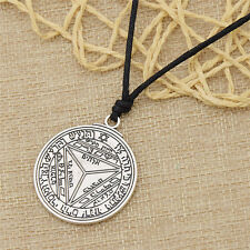 Vintage Key of Solomon Pendant Necklace Pentacle of Saturn Tailsman Jewelry Gift
