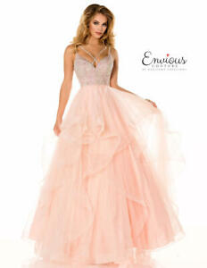 JOVANI STYLE ENVIOUS COUTURE PINK TULLE BALLGOWN WITH EMBELLISHED BODICE BNWT