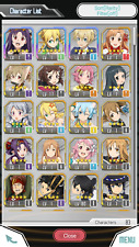Sword Art Online MD NA Account 3 5*, 28 4* Characters, & 14 4* Weps