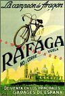 Bicycle Rafaga 1930 Spanish Cycle Advertising Vintage Poster Print Sports Decor