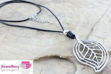 Unbranded Leather Alloy Costume Necklaces & Pendants