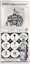 1962 Reprise Records Breakfast at Tiffanys-Old Bushmills Irish Whiskey Print Ad