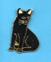 Pin's lapel pin pins KATZE CAT GATO GATTO KAT CHAT NOIR ASSIS