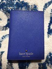 KATE SPADE Mikas Pond Passport Holder NWT Wallet Bleu Dark Royal EMPEROR BLUE