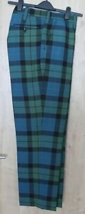 SCOTTISH HIGHLAND  TARTAN TROUSERS TREWS MACAY 36 inch waist