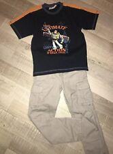Okaidi Disneyland 9 / 10 ANS Été Garçon : Pantalon Coton + T Shirt Toy Story TBE