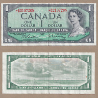 1954 $1 Bank of Canada Replacement Beattie Raminsky *B/M 2197268 - VF