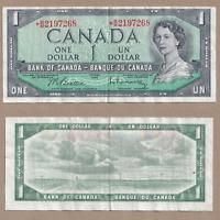 1954 $1 Bank of Canada Replacement Beattie Raminsky *B/M 2197268 - VF