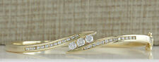 1.00 Carat Natural Diamond 14K Yellow Gold Luxury Bangle Bracelet