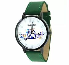 DOOKA KNUODE Off The Wall Unisex Leather Strap Quartz Watch (Green)