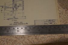 Genuine Graymarine Model 165 (Manual Clutch) Installation Drawing - FREE UK P+P