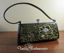 Debbie Brooks New York Exotic Leather Lucite Water Lily Handbag Purse...CEM