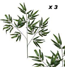 "26"" Bamboo Leaf (Pack of 3) Spray Wedding Home Decor Craft Silk Flower Plant"