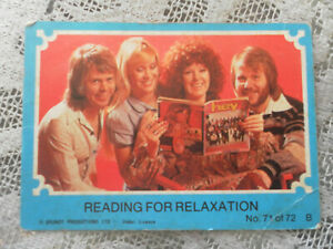 RARE VINTAGE 1976 SCANLEN ABBA CARD READING FOR RELAXATION NO 71 of 72 GOOD COND