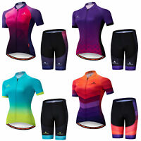 Miloto Women's Cycling Kit Short Sleeve Bicycle Jersey and Shorts Padded Set