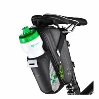 RockBros Black Waterproof Cycling Bicycle Saddle Tail Bag & Water Bottle 750ml