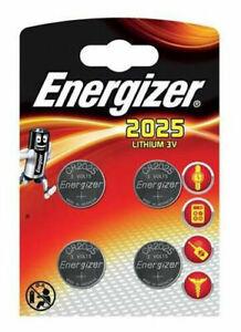 4x ENERGIZER  CR2025 3V COIN CELL BATTERY LONGEST EXPIRY DL 2025